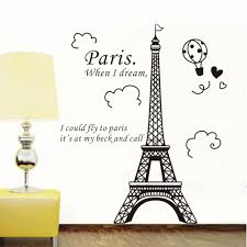 elegant paris eiffel tower vinyl lovely wall sticker decals mural elegant paris eiffel tower vinyl lovely wall sticker decals mural art