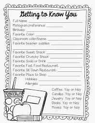 gift ideas for thanksgiving 2nd grade snickerdoodles getting to know the teacher freebie