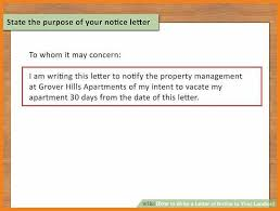 30 day notice letter 9 examples of 30 day notice examples