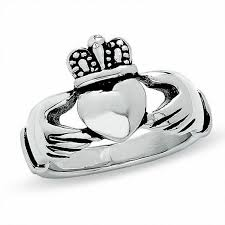 clatter ring claddagh ring in stainless steel online exclusives