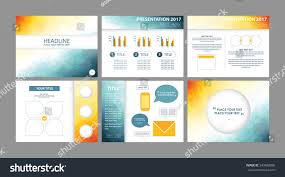 business presentation templates vectors low poly stock vector