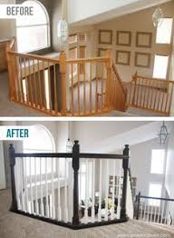 Painted Banisters Diy How To Stain And Paint An Oak Banister Spindles And Newel