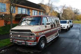 van chevrolet old parked cars 1983 chevy van good times estate