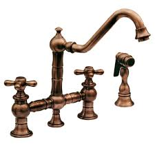 kohler bronze kitchen faucets whitehaus whkbtcr3 9201 vintage iii 9 inch bridge faucet w long