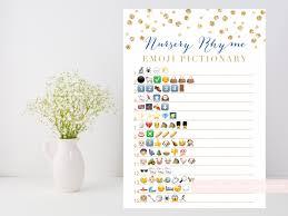 nursery rhyme quiz emoji pictionary printable game gold baby