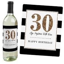 halloween wine bottle labels amazon com chic 30th birthday pink black and gold wine