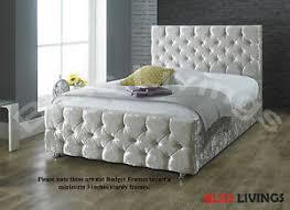 Crushed Velvet Fabric Upholstery Sophie Crushed Velvet Fabric Upholstered Bed Frame Storage 4 U00276ft