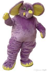 Halloween Mascot Costumes Cheap Professional Purple Elephant Mascot Costume Cartoon Fancy Dress