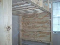 how to build a full size loft bed u2013 more ideas for bunks loft