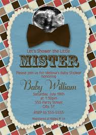 bow tie baby shower checkered bow tie baby shower invitations with sonogram photo