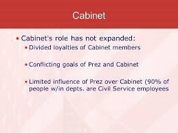 Role Of Cabinet Members The Office Of The President Executive Branch Article Ii Ppt