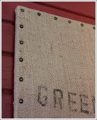 Where To Buy Decorative Nail Heads Cheap Wall Decor Ideas That Don U0027t Look Cheap Burlap Coffee Bag