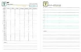 time design planner template planners template