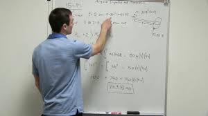angular impulse and momentum exle problem
