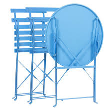 Folding Bistro Table And 2 Chairs Best Choice Products Outdoor Patio Folding Metal Bistro Set Table And