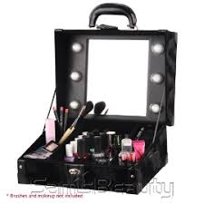 makeup luggage with lights makeup artist train case with lights samsbeauty
