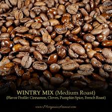 wintry mix winter spices flavored coffee blend medium roast coffee