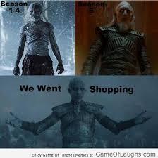 White Walker Meme - the white walkers went for shopping game of laughs pinterest
