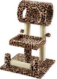 Cat Furniture by Frisco 28 Inch Cat Tree Animal Print Chewy Com