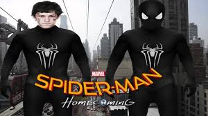 spider man homecoming 2017 black suit the amazing spider man 2