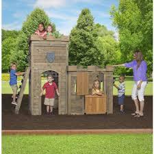 Backyard Cedar Playhouse by Backyard Discovery Windsor Castle Wooden Playhouse Walmart Com