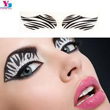 new zebra eyeshadow tattoo sticker water transfer eye liner