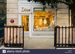 Christmas Decorations Window Displays by Window Display Of Christian Dior Baby With Christmas Decorations