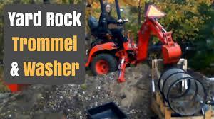 Homemade Gold Trommel Design by Rock Trommel Rock Washer Part 1 Demonstration Youtube