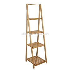 Book Or Magazine Ladder Shelf by Living Room Bamboo Display Storage Shelves Modern Bamboo Leaning