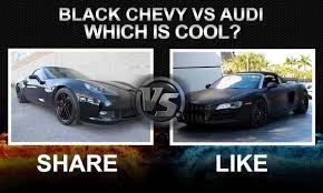 corvette vs audi r8 murdered out chevy corvette vs audi r8 murdered cars