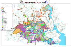 Houston Tx Zip Code Map by 2012 Junk Waste Re Route