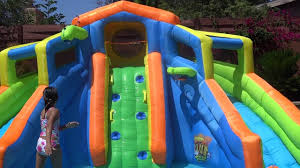 banzai adventure club inflatable waterpark youtube