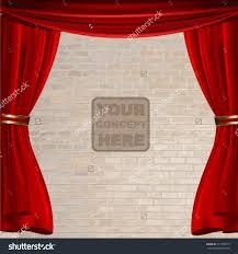 red stage curtain design vector illustration stock vector