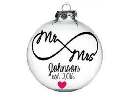 personalized christmas ornaments wedding wedding ornaments etsy