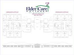 layout of nursing home floor plan for elder care cottages memory care units homey