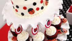 Ladybug Themed Baby Shower Cakes - baby shower party supplies baby shower themes u0026 ideas pink