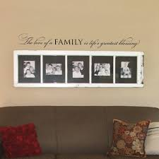 quote to decorate a room the love of a family wall words vinyl quote design