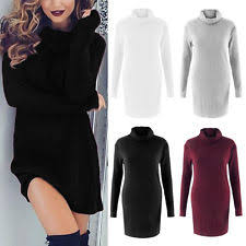 roll neck jumper dress ebay