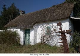 Thatched Cottage Ireland by Traditional Irish Thatched Whitewashed Cottage Stock Photos