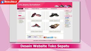 tutorial membuat web html sederhana cara membuat desain website toko sepatu menggunakan bahasa html dan