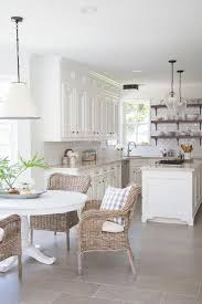 gorgeous farmhouse kitchen inspiration wicker dining chairs