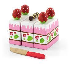 jeux aux fraises cuisine gâteau aux fraises jeu à découper blocs en bois bébé enfant 2ans