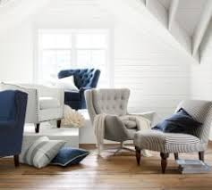 Accent Chairs And Ottomans Living Room Chairs Occasional Chairs Pottery Barn