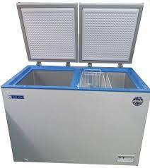 glass door chest freezer buy blue star glass top deep freezer 300 liter online at low