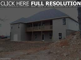sloped lot house plans luxihome new split level house plans with wal