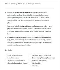 Sample Retail Manager Resume by Retail Resume U2013 9 Samples Examples Format