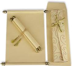 indian wedding invitations scrolls sc 032 parchment scroll beige gold designer wedding cards