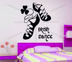 irish dancing shoes decorative vinyl wall sticker decal girls