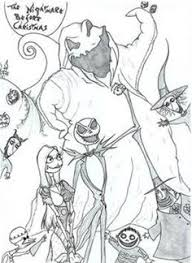 nightmare before christmas coloring sheets coloring pages