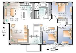 open space house plans w3128 v1 3 bedroom contemporary house plan open living space